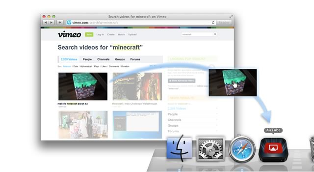 A screenshot of how to start streaming a Vimeo video