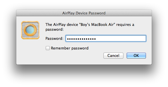 Password Protected AirPlay Speakers